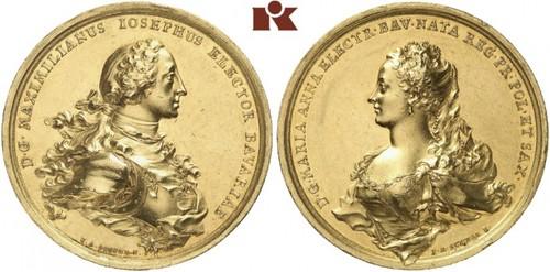 Lot 3578: Maximilian III. Joseph, 1745-1777. Goldmedaille