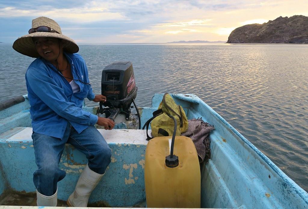 Caigut del cel, el primer pescador que em va oferir un 'raite'.