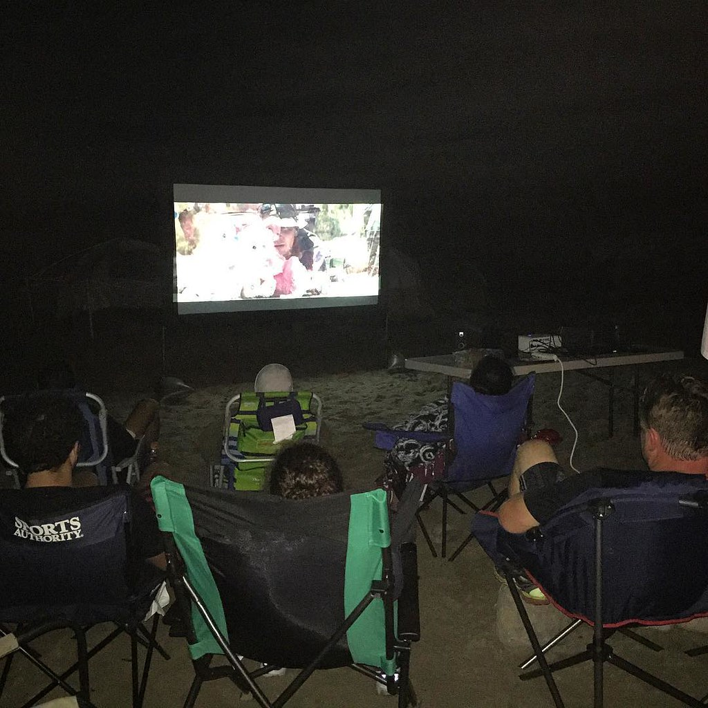 DSJJ LA Beach Boot Camp - movie time before bed... | Flickr