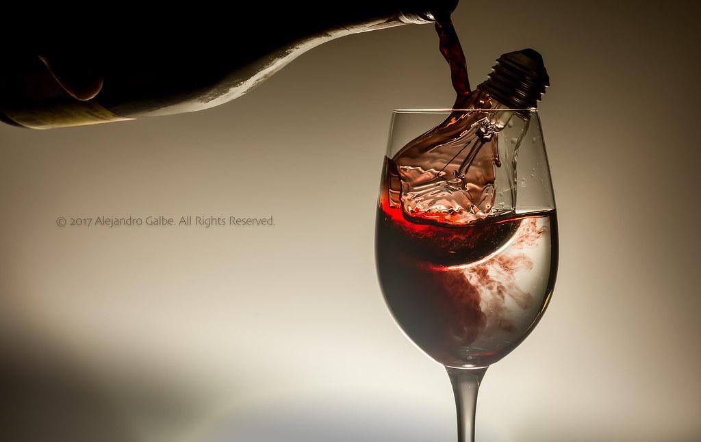 Bottle Of Wine Glass And Bulb Concept Shot Alejandro Galbe Flickr