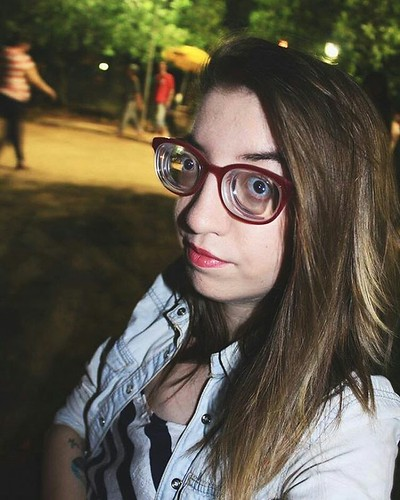 Stunning Highly Myopic Brunette Girl With Strong Glasses