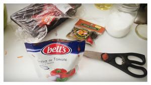Ravioles con salsa de tomate y carne