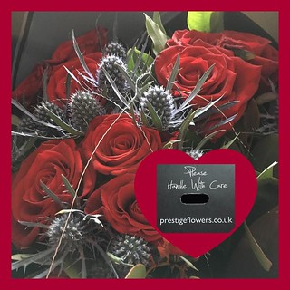 These gorgeous flowers (a thank you) from @prestigeflowersuk are a perfect pick-me-up! This rose and thistle bouquet is the perfect balance for me as I can have a prickly side! So why not give them a try as a #treatmetuesday special treat for yourself....