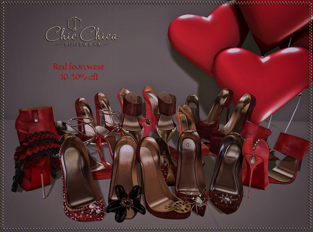 Red Footwear sale 40-50%off @ ChicChica