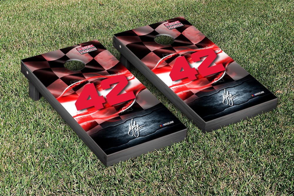 KYLE LARSON #42 CORNHOLE GAME SET NIGHT LIGHTS VERSION (1)