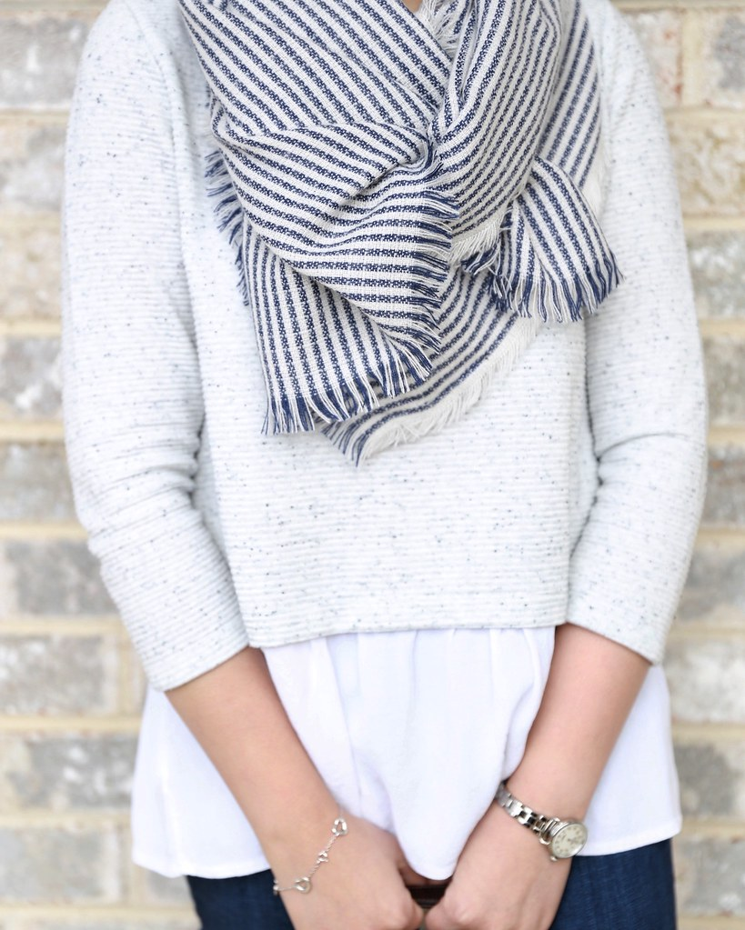 LOFT Mixed Stripe Scarf
