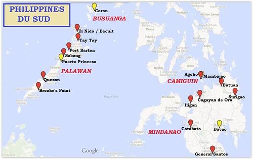 Trajet-Philippines Sud