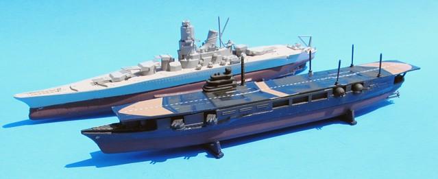 IJN Yamato and Zuikaku (2-Pack) 1:1200 Scale Lindberg Model