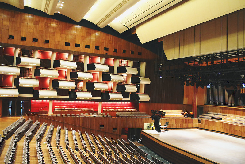 Inside the Royal Festival Hall theatre
