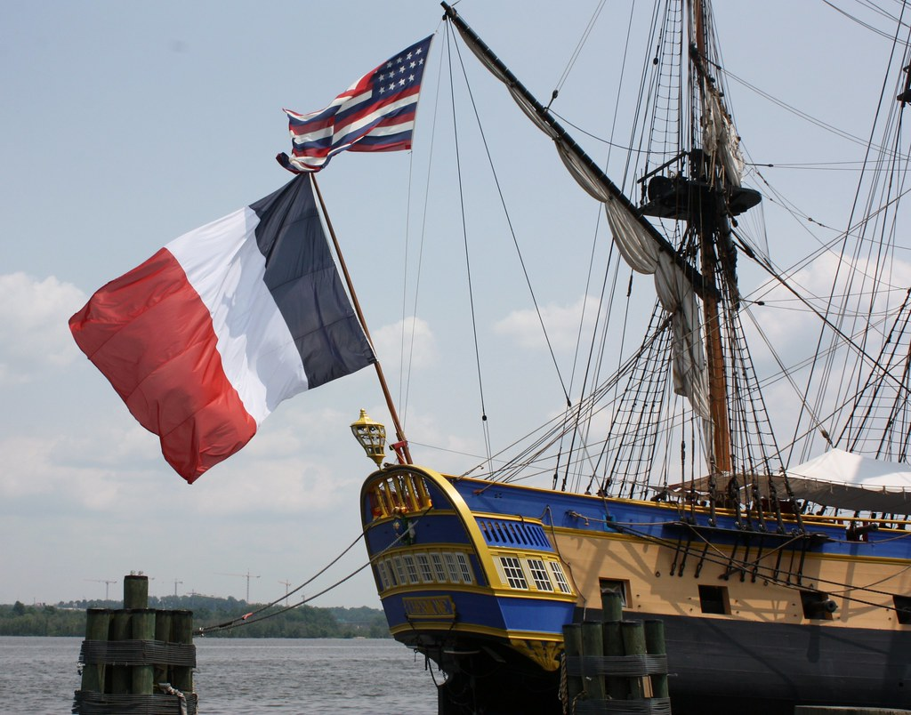 Hermione French Flag and Continental flag