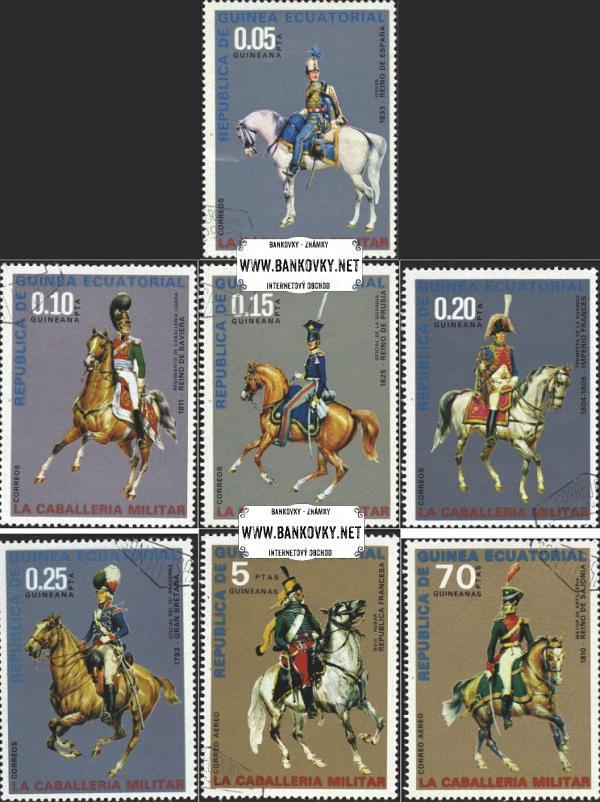 Známky Rovníková Guinea 1976 Kavaléria, razítkovaná séria