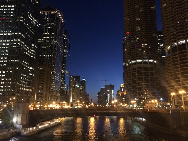 Chicago at dusk
