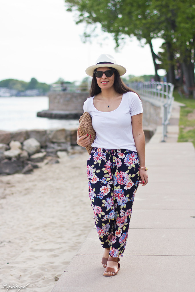 floral joggers, white tee, panama hat-3.jpg
