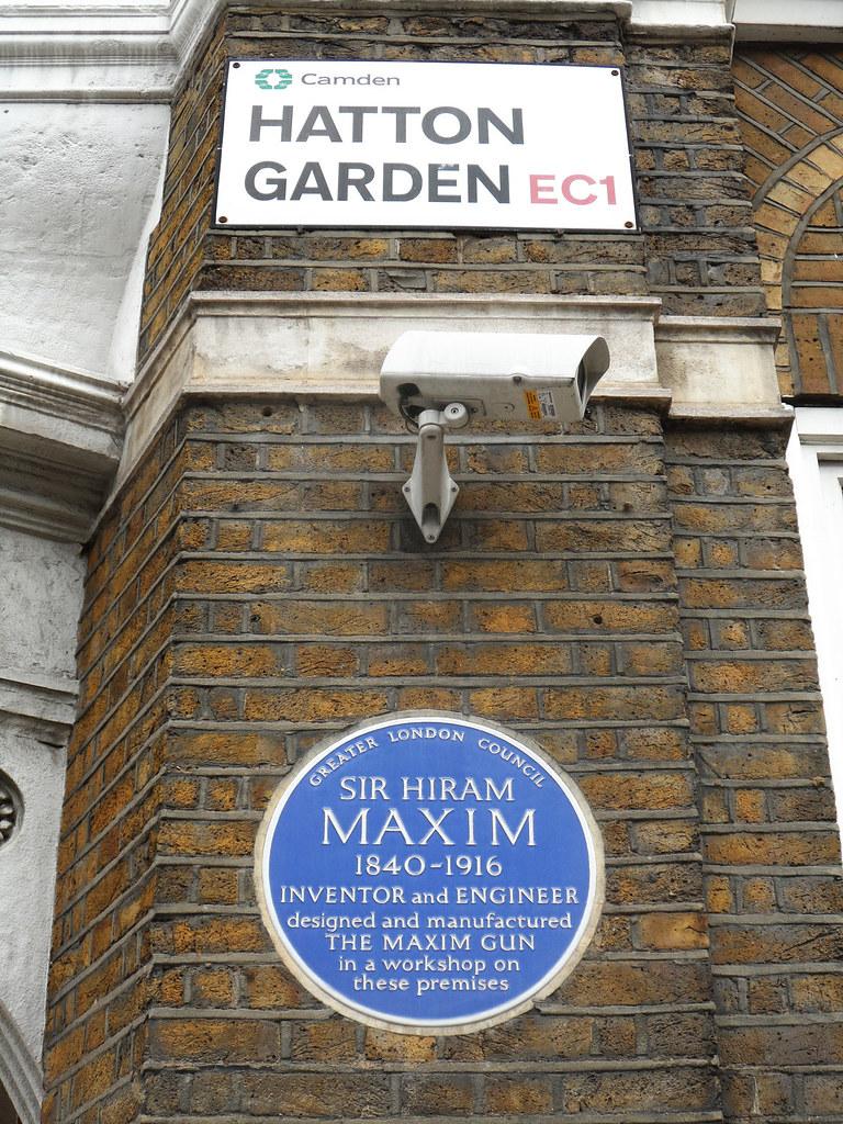 ... SIR HIRAM MAXIM   57d Hatton Garden Holborn London EC1N 8HP Med | By  Spudgun67