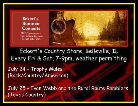 Eckert's Summer Concerts 7-24, 7-25-15