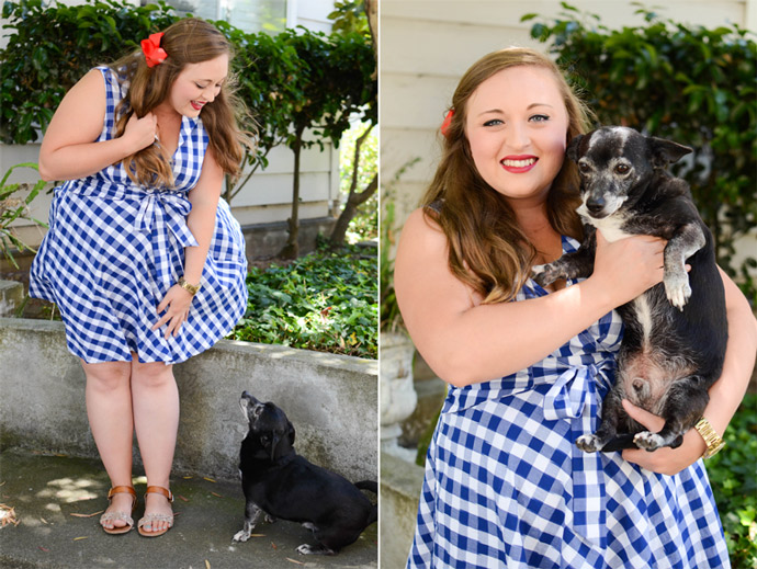 red white & blue, patriotic, 4th of July, USA, vintage, rockabilly, style, ootd, pin up, gingham, eshakti