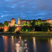 View on Wawel in the evening, Krakow, Poland