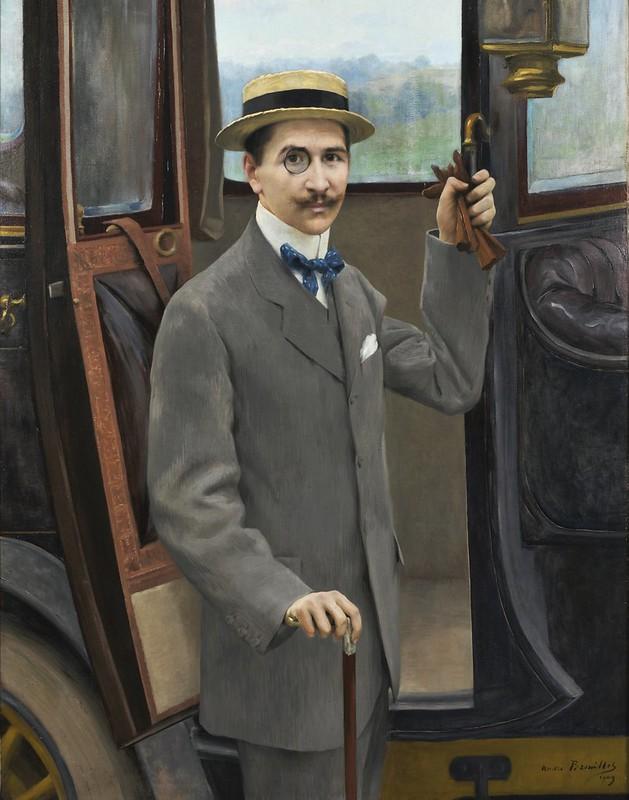 André Brouillet - Homme près de sa voiture (1909)