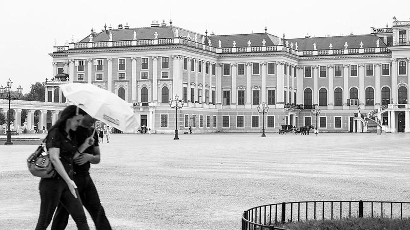 Llueve en Schönbrunn