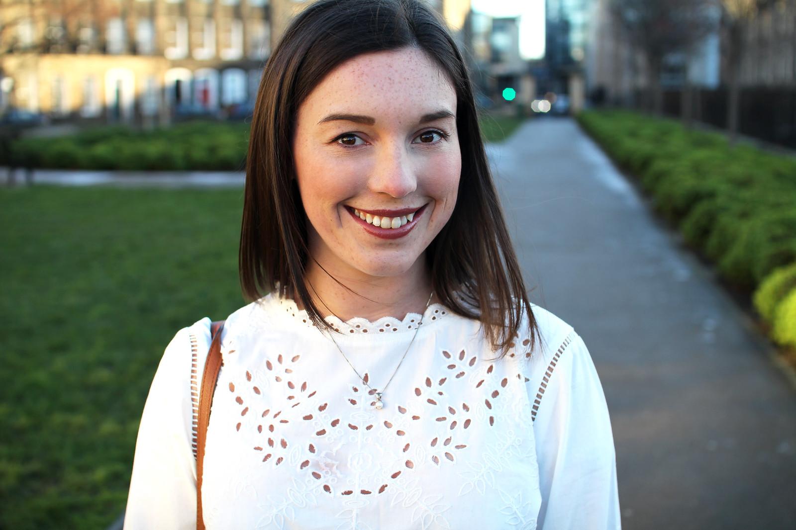 white shirt Lauren Conrad Kohls UK fashion blogger