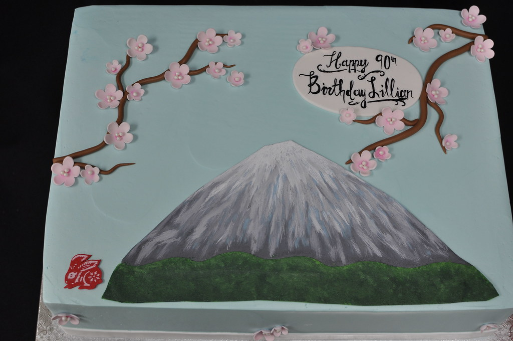 Japanese Style 90th Birthday Cake Jenny Wenny Flickr