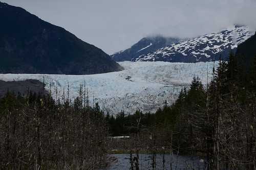 Mendenhall Glacier from the highway approach
