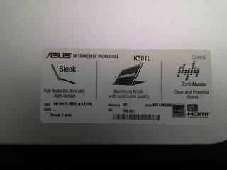 [Khui hộp] Asus K501L - Laptop tầm trung thiết kế đẹp cấu hình cao - 77137