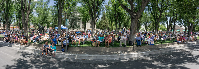 Audience Panorama at the Prescott Bluegrass Festival