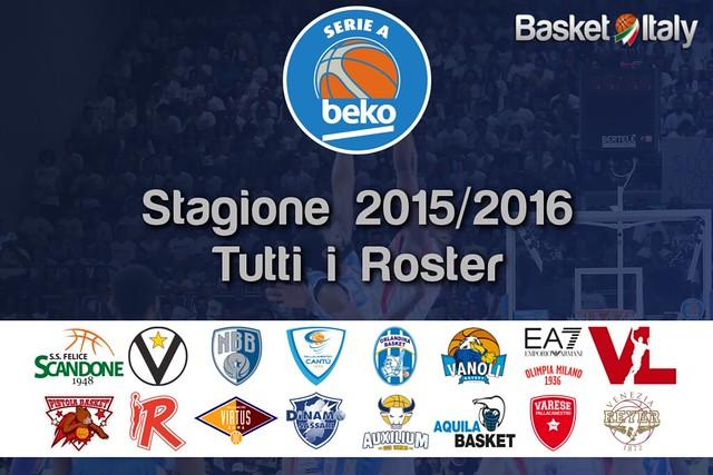 Serie A Beko 2015/16 - I Roster