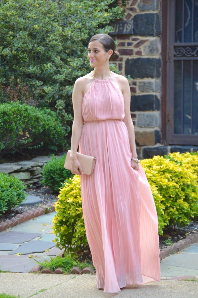 The Closet Crush: PINK PLEATED MAXI DRESS \u0026amp; A $120 GIFT CARD GIVEAWAY