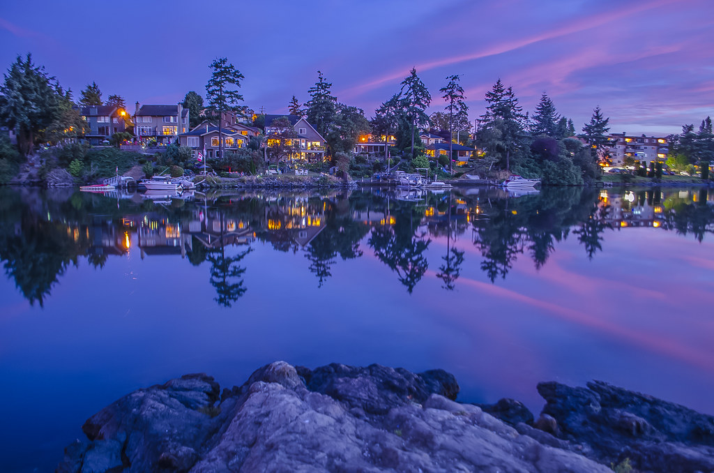 Blue hour on the gorge jay carrieres flickr for 3d wallpaper canada