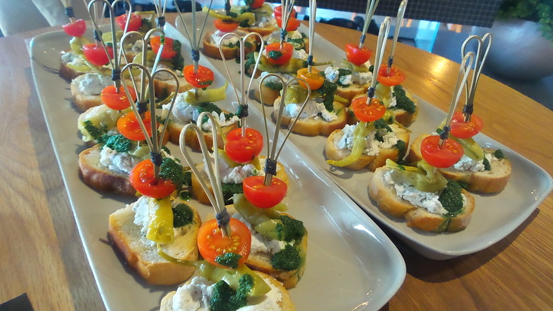 trays of canapes