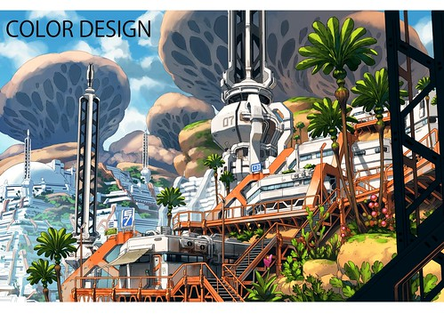 T. Romain: Macross Delta 2. Image board design process.