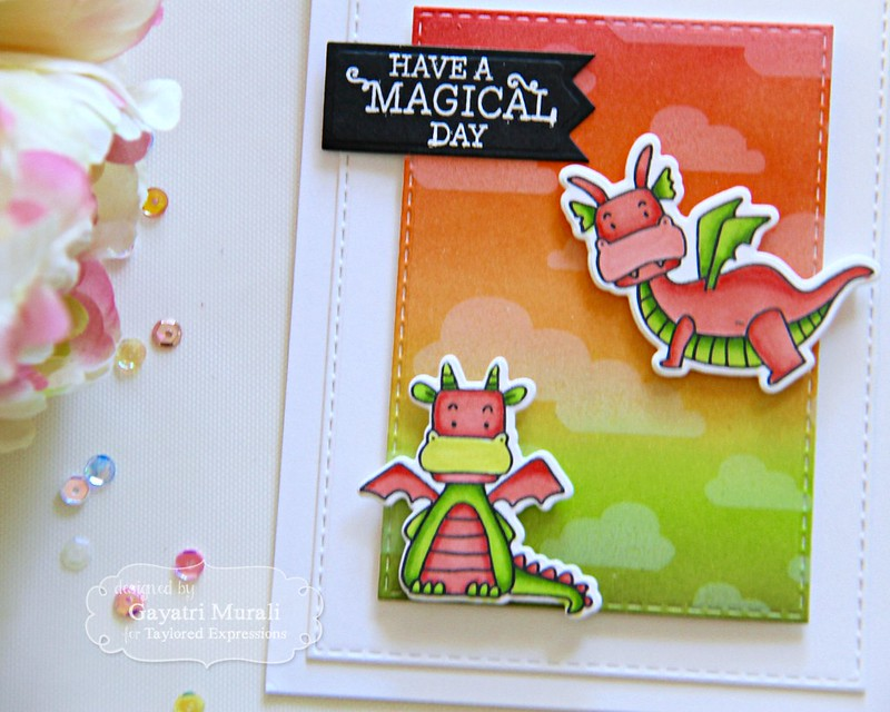 Magical day card closeup