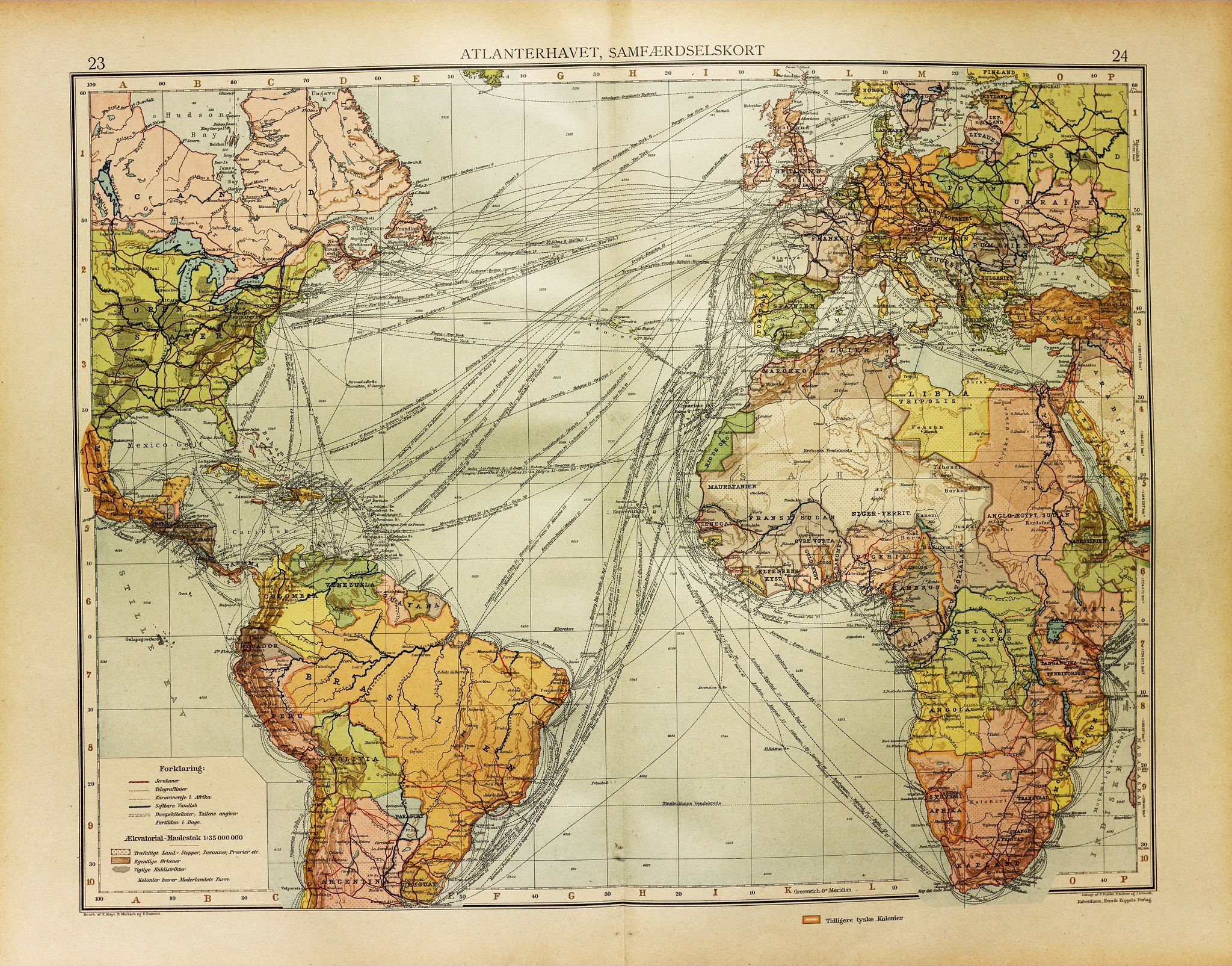 Sailing routes and travel times across the atlantic in 1923 sailing routes and travel times across the atlantic in 1923 x wallpaper background for ipad mini air 2 pro laptop gumiabroncs Choice Image