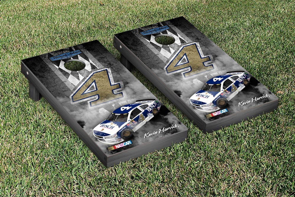 KEVIN HARVICK #4 CORNHOLE GAME SET PIT ROW BUSCH DARLINGTON VERSION