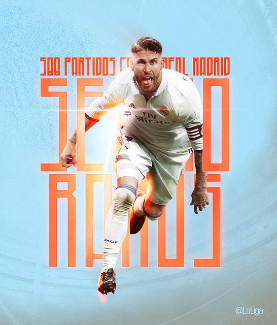 Sergio Ramos: 500 partidos con el Real Madrid