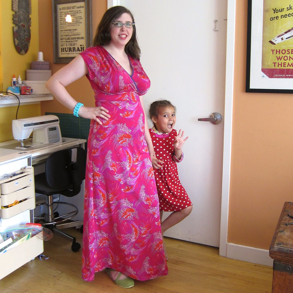 McCall's 6070 fuschia maxi dress