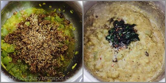 Chow Chow Pepper Kootu - step 2