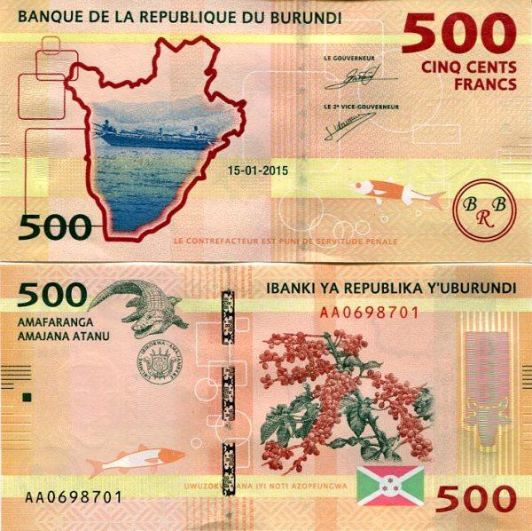 500 Frankov Burundi 2015