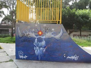 Skate park art