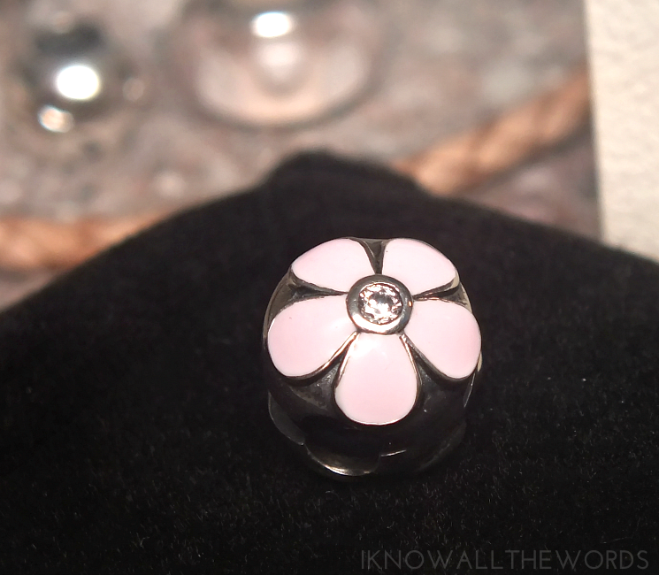 soufeel review Pink Flower With Crystal Clip Charm 925 Sterling Silver
