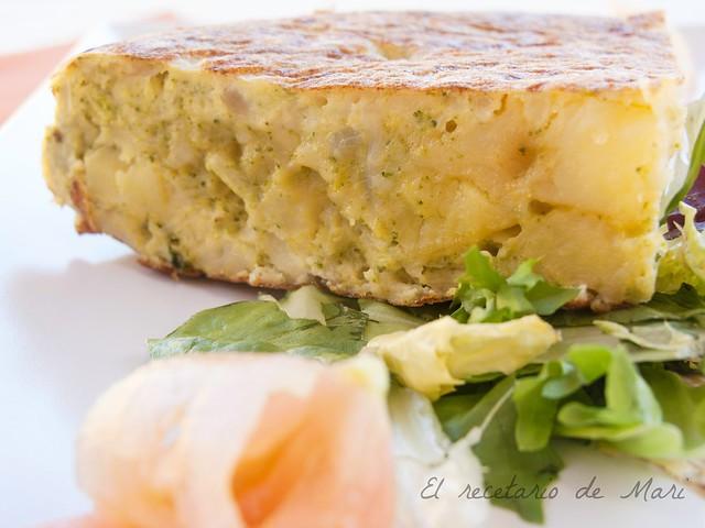 Tortilla de brocoli y queso 1
