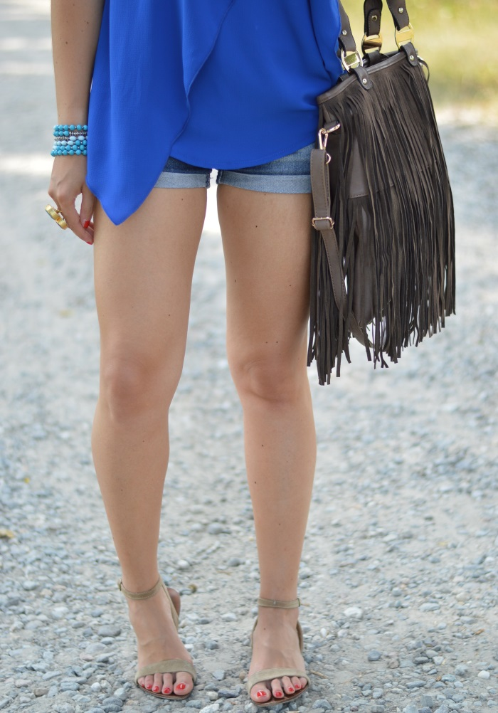 blue, wildflower girl, fashion blog, mamared bag, shorts (7)
