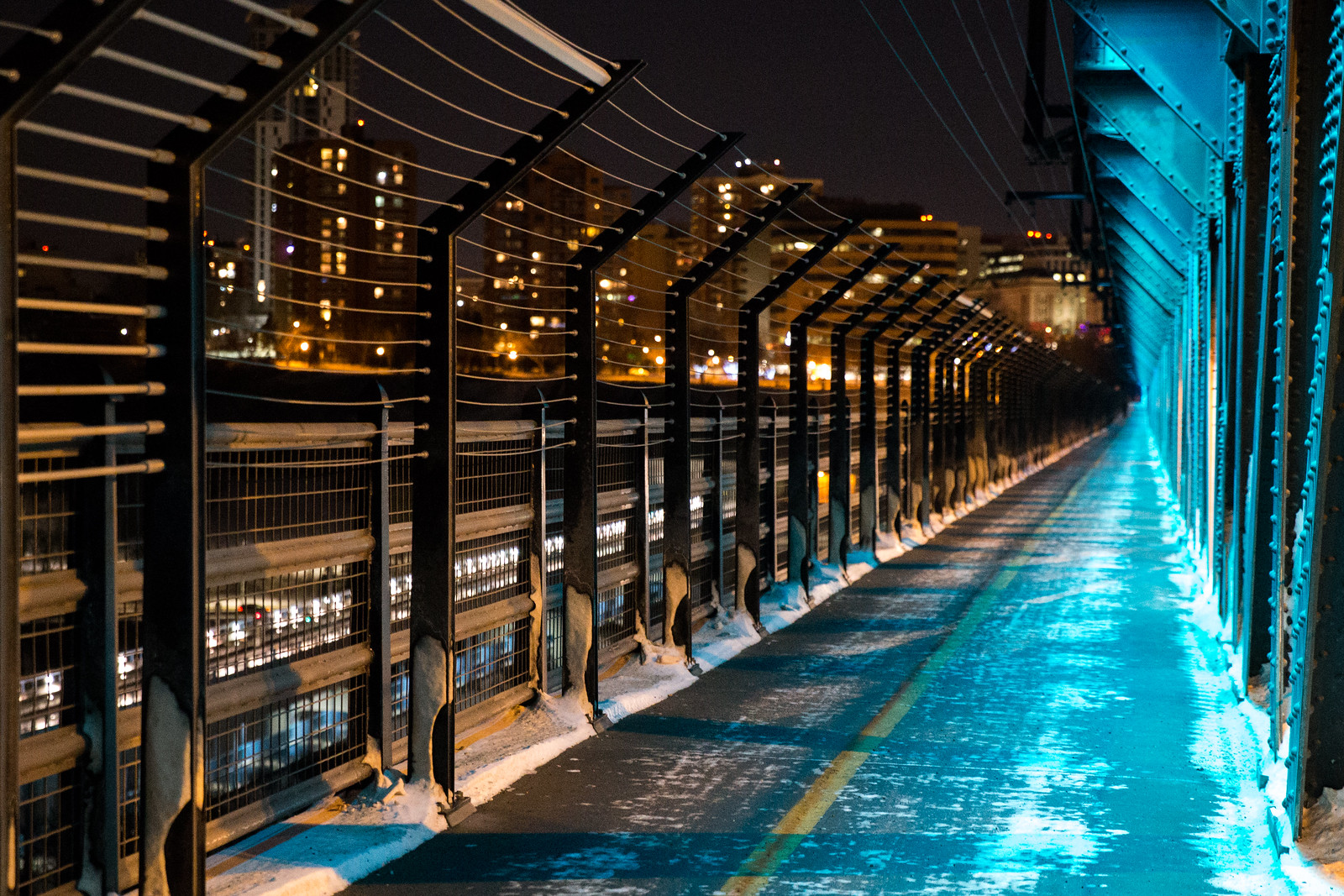 Anti-suicide fences & LEDs are some of the most recent additions to the bridge. Photo by Mack Male.