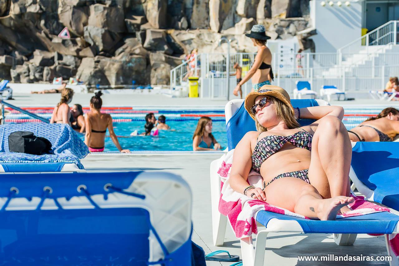 En las piscinas de Lido