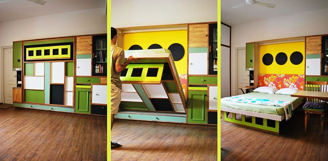 colorful foldable bed