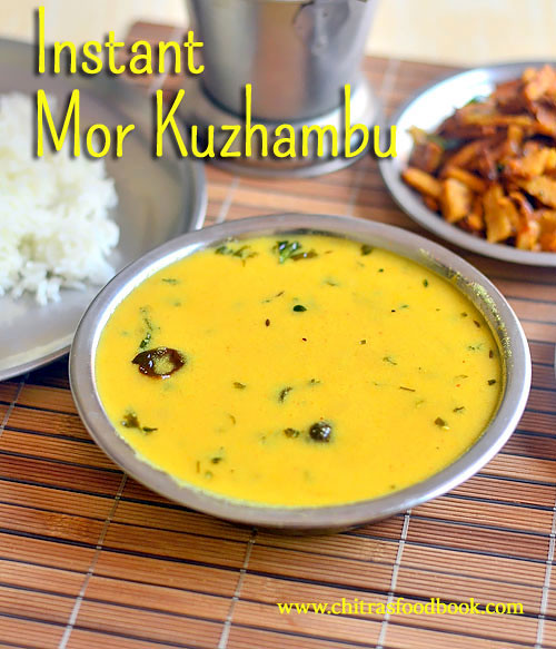 Instant mor kuzhambu recipe without grinding coconut