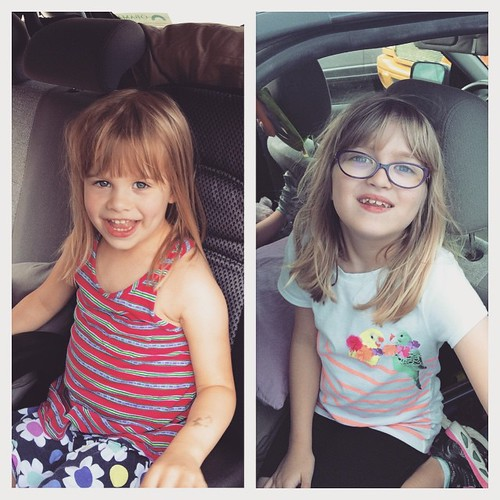 Picked up these messy-haired ragamuffin children, & we're road-tripping to Charlotte for the weekend. They're kinda excited.