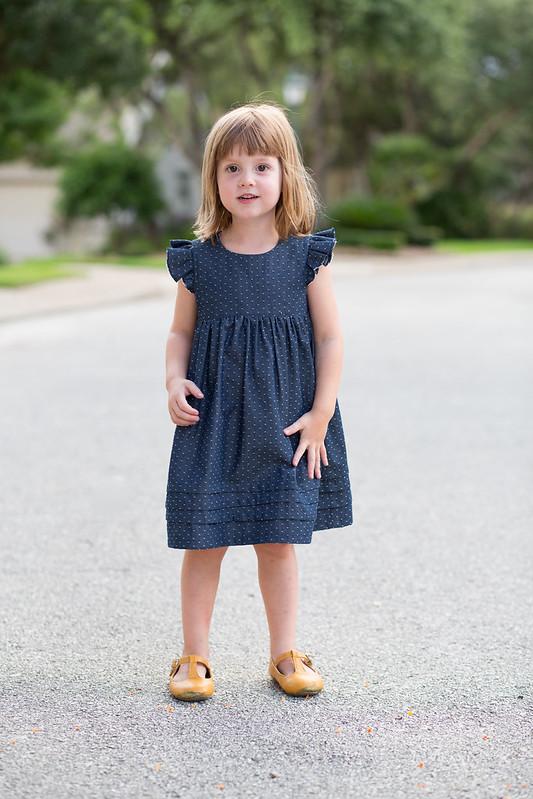 geranium dress with growth pleats